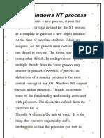 The Windows NT Process