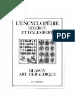 Encyclopédie Diderot & d'Alembert - Blason ou l'art Héraldique [1751-1780]
