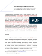 Vandresen & Cruz Territorialidade Quilombola & Cartografia Social