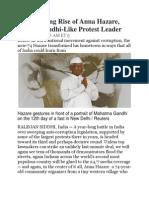 The Amazing Rise of Anna Hazare
