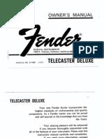 Guitar - Luthier - Fender Telecaster Deluxe Plans (1973)