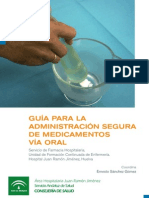 Guía de administración segura de medicamentos via oral
