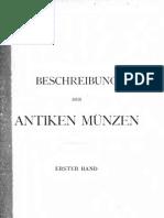 Beschreibung der antiken Münzen. Bd. I