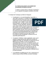 ANÁLISE DA TOPOLOGIA BÁSICA DAS REDES DE TRANSPORTE INTERNACIONAIS aula 8 word 2003