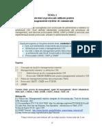 Microsoft Word - Tema 2 Arhitecturi Si Protocoale de Management