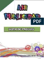 Lista de Precios Public Id Ad 22oct2011