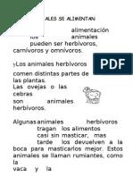 Los Animales Se Alimentan