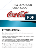 Expansion and Growth of COCA COLA