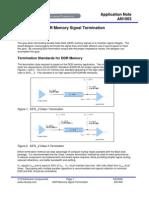 DDR Memory Signal Termination
