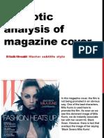 Semiological Magazine Cover Analysis- Black Swan