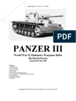 Panzer III Rules