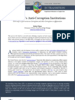 Anti-Corruption Institutions in Afghanistan