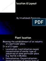 Plant Location & Layout (Final)