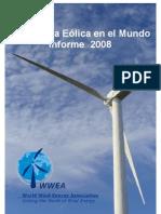 Informe Energia Eolica Mundial 2008