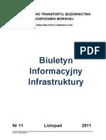 Biuletyn Informacyjny Infrastruktury 11/2011