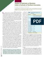 Efecto de Nutrientes en Algodon Transgenico