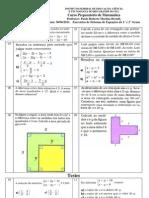 Mat UTFRS 13. Sistemas de Equacoes Exercicios