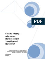 SCHEMA THEORY - A RESONANT HERMENEUTIC IN STORY/TEXTUAL NARRATIVE?
