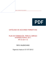 Catálogo intersectorial PV 2011 S F i RH