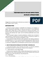 Prévention du risque infectieux au bloc opératoire