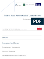 Walter Reed Redevelopment Implementation Report