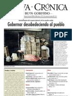 Nueva Crónica 95 - GOBERNAR DESOBEDECIENDO AL PUEBLO (Jueces electos en duda...)