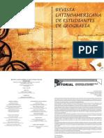 Revista latinoamericana de Estudiates de Geografía Ed. 1