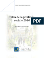 Bilan de la politique social 2010 de l'Université des Antilles et de la Guyane