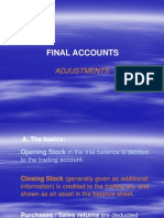Final Accounts- Adjustments- Students