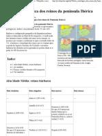 Tabela cronológica dos reinos da península Ibérica – Wikipédia, a enciclopédia livre