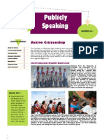 CGPH - Publicly Speaking (Dec 2011 Newsletter)