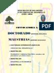 Convocatoria a Doctor a Dos y Maestrias CIDES UMSA 2012 - 2014