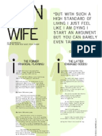 Man + Wife  Typographic Poster