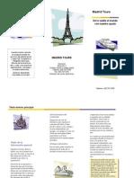 folleto en word