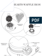 Five of Hearts Waffle Iron Schematic Diagram