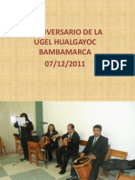 II Aniversario de La Ugel Hualgayoc-bambamarca