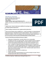 OK-SAFE, Inc. Reporting - Meeting on Insurance Exchanges 12-8-11, Room 419-C