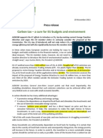 AEBIOM Press Release on Carbon Tax 29 November 2011