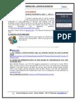 GSA Announcements Dec 5th 2011