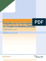 Enquête 2010 Sur L'Emploi Au Québec