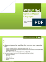 Common Languages