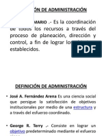 DEFINICON DE ADMINISTRACION