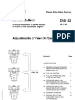 Adjustments of Fuel Oil Systems