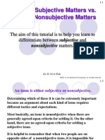 Subjective vs Objective