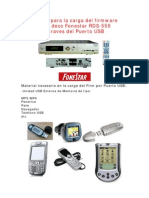 Manual Carga Firm USB RDS-550