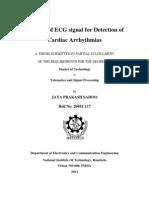 Analysis of ECG Signal for Detection of Cardiac Arrhythmias