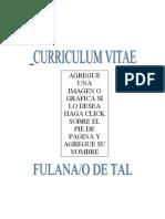 Curriculum Modelo Para Ayudantes Alumnos