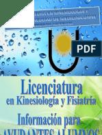 Informacion Ayudantes Alumnos Kinesiologia y Fisiatria