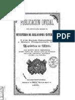 Publicación oficial del negociado entre el Ministro de Relaciones Esteriores y el Sr. Enviado Extraordinario y Ministro de la República de Chile. (1865)
