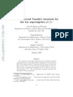Jose M Figueroa-O'Farrill, Takashi Kimura and Arkady Vaintrob- The universal Vassiliev invariant for the Lie superalgebra gl(1|1)